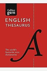 Collins Gem English Thesaurus Kindle Edition