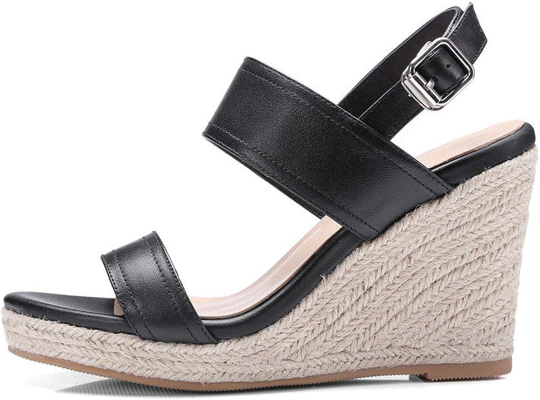 Heat-Tracing Women Sandal Wedge High Heel Slingback Buckle Strap Women shoes Ankle Strap Peep Toe shoes