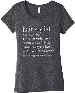 Hair Stylist Definition Cotton Womens Front Print T-Shirt