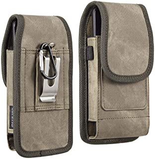 Luxmo Apple iPhone SE (2020) (4.7 inch) Belt Clip Holster - Vertical Rugged Nylon Carrying Pouch Phone Case (2 Card Slots/...