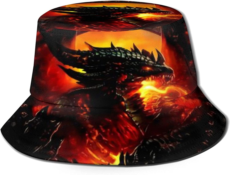 Steel Red Dragon Bucket Super Special SALE held Hat Fishe Packable Seasonal Wrap Introduction Summer Unisex Sun