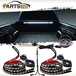 Partsam Truck Bed Light White LED Strip Tailgate Light Bar 2pcs 60