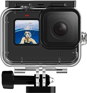 TELESIN Waterproof Case, 3 Pack Filters Compatible with GoPro Hero 9 Black 45M Deep Underwater Snorkeling Scuba Diving