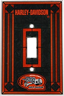Harley Davidson Art Glass Switch Plate Cover