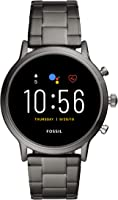 Fossil The Carlyle Hr Men's Multicolor Dial Stainless Steel Digital Smartwatch - FTW4024