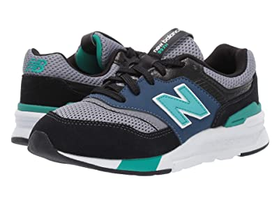 New Balance Kids 997H (Little Kid) (Black/Verdite) Boys Shoes