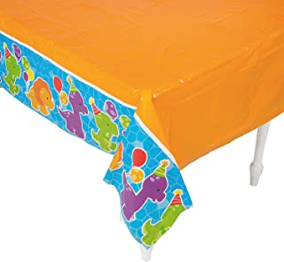 Fun Express - Little Dino Table Cover for Birthday - Party Supplies - Table Covers - Print Table Covers - Birthday - 1 Piece