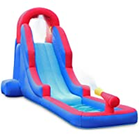 Deluxe Heavy-Duty Nylon Inflatable Water Slide Park with Included Air Pump & Carrying Case