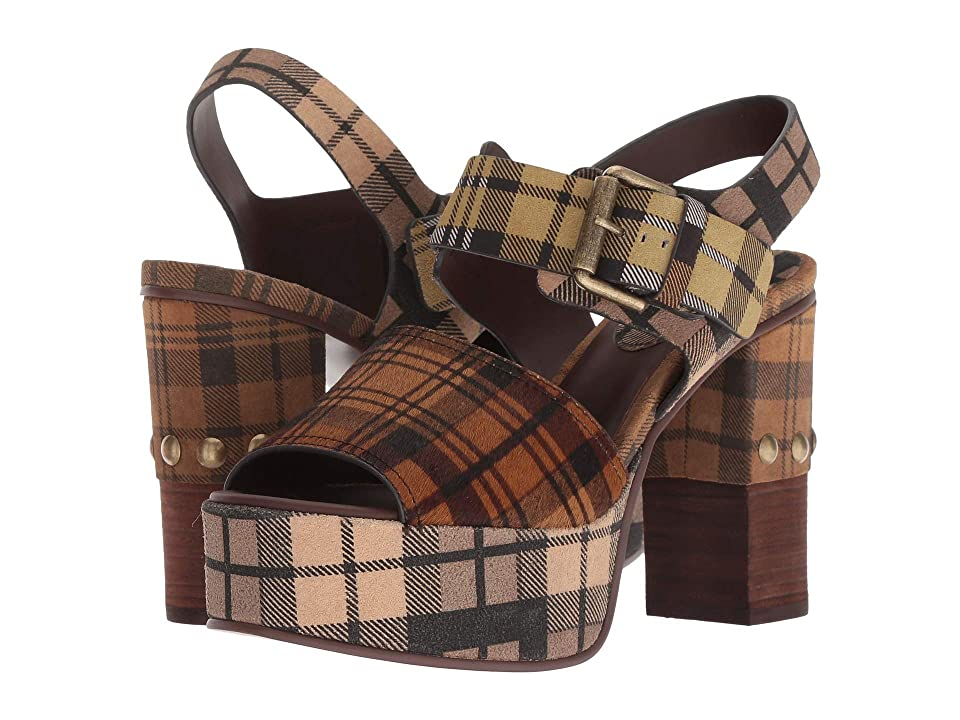 See by Chloe SB31041A (Print Tartan Brown/Print Tartan Wine/Brown) High Heels
