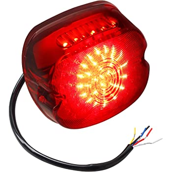 Dyna Red Tail Light LED integrated Turn Signals For Harley Sportster Road King
