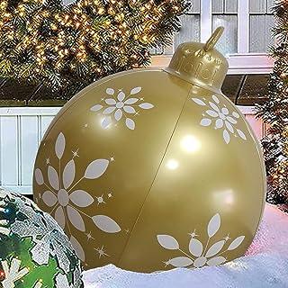 MULY Bola decorada inflable de Navidad de 24 pulgadas, decoraciones gigantes de Navidad de 2022, adorno de Navidad para ja...