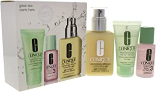 Clinique Great Skin 3-Step Skin Care System - Combination Oily Skin by Clinique for Unisex - 3 Pc Kit, 3 count