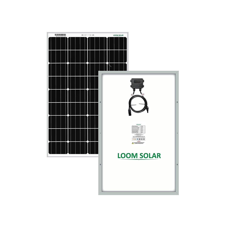 LOOM SOLAR 125 watt-12 Volt Mono PERC Panel (Pack of 2), BIS Certified