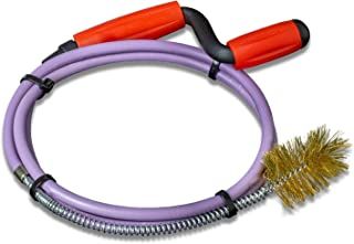 Nirox Desatascador espiral manual con cepillo de alambre 8mm x 1,4m - Desatascador de desagües ideal para eliminar el pelo y la suciedad - Desatascador tuberias manivela