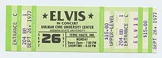 Elvis Presley Ticket 1977 Sep 26 Indiana State University
