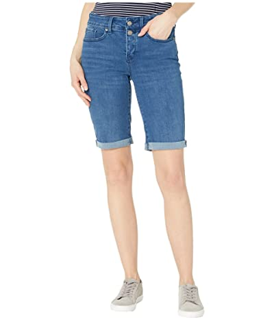 NYDJ Briella Denim Shorts with Mock Fly and Roll Cuff in Nevin (Nevin) Women