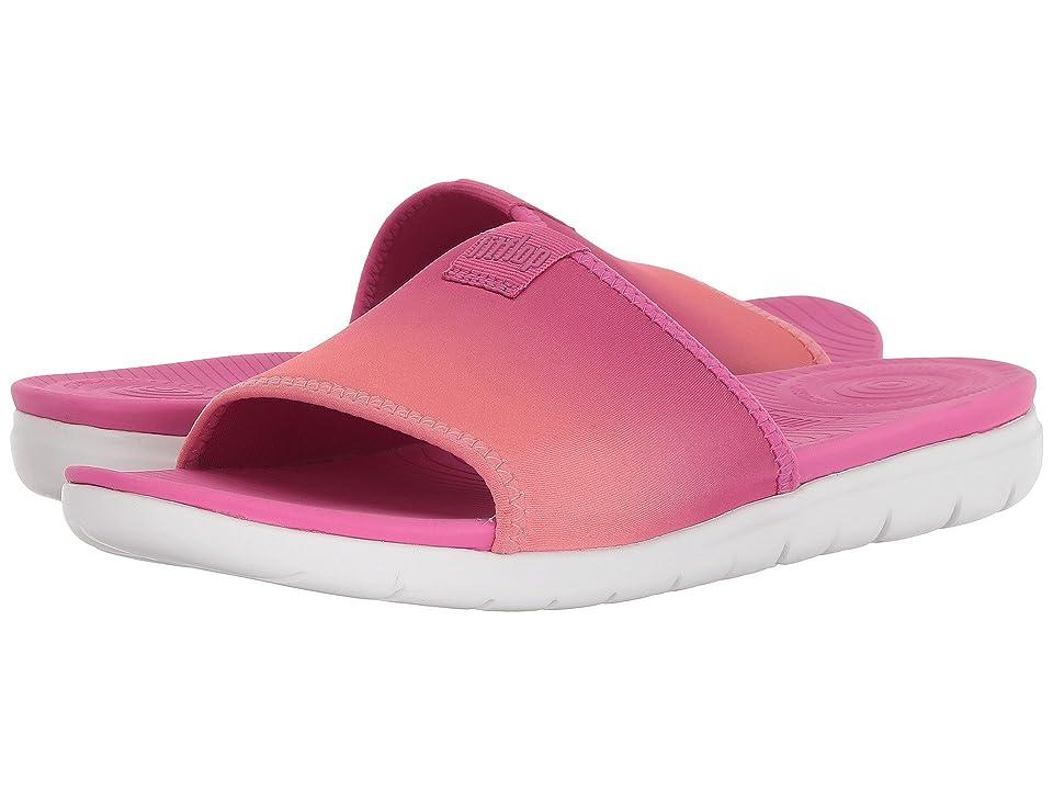 FitFlop Neoflex Pool Slide Sandals (Coral/Fuchsia) Women