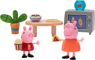 Peppa Pig Little Rooms Movie Night Playset