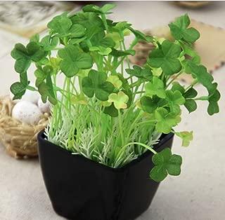 Skyseen 12 Bunches Artificial Clover Silk Flower Simulation Trefoil Leaf Trifolium Plant