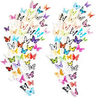 eoorau 73PCS Butterfly Wall Decals for Girls,3D...