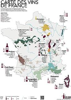The Wine Galaxy IDEE Cadeau : Carte imprimée des vins de France et des régions viticoles (Format Standard 50x70cm) | Affic...
