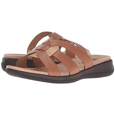 SoftWalk Thompson (Luggage/Cement Soft Sandal Leather) Women