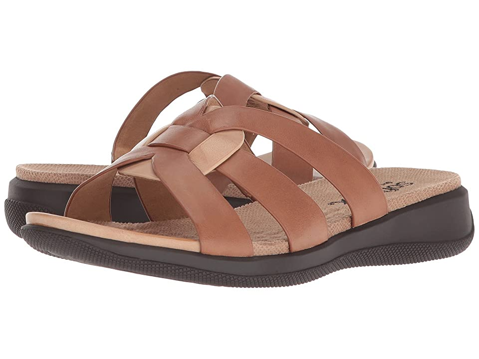 SoftWalk Thompson (Luggage/Cement Soft Sandal Leather) Women