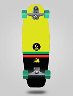 Glutier Surfskate with T12 Surf Skate Trucks Flame...