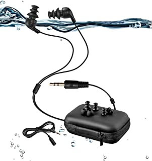 Sewobye Waterproof Headphones, Waterproof Earbuds for Swimming, with 3 Type Underwater Earbuds for sort of Sports(Swimming...