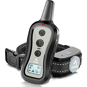 PATPET Dog Training Collar- Dog Shock Collar with Remote, w/3 Training Modes, Beep, Vibration and Shock, Up to 1000 ft Remote Range, Rainproof for Small Medium Large Dogs