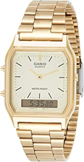 Casio Men's Ana-Digi Gold Dial & Stainless Steel Band Watch AQ-230GA-9DMQYES