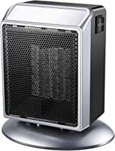 Portable Space Heater, 500W / 900W Power Setting, Personal Ceramic Heater Fast Heating Electric Heater Fan Perfect for Indoor Home Bedroom Office