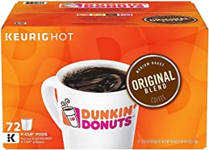 Dunkin' Donuts Original Blend Coffee K-Cup Pods, 72 Count