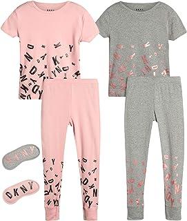 DKNY Girl's 4-Piece Pajama Set � Comfortable Snug Fit Design