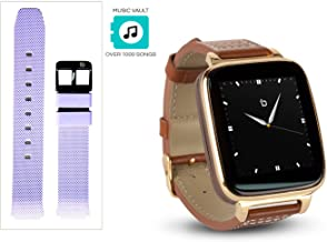 Beantech Engage Plus Smart Watch for Apple/Android Phones., Gold with Ash Purple Strap, Engage Plus Smartwatch Bundle
