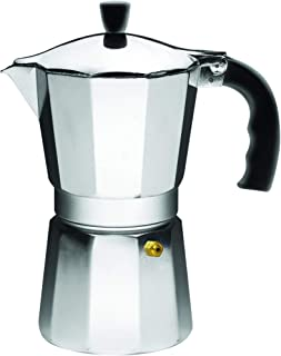 IMUSA USA B120-43V آلومینیوم Espresso Stovetop Espresso Maker 6 فنجان ، نقره