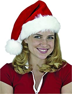 Jacobson Hat Company Men's Deluxe Plush Santa Hat