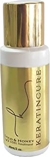 Keratin Cure Best Strong Hair Treatment Gold & Honey V2 LGEL 2 OUNCES Intensive Extracts Nourishing Straightening Damaged Dry Frizzy Coarse Curly African Ethnic Wavy Hair keratina keratine dose