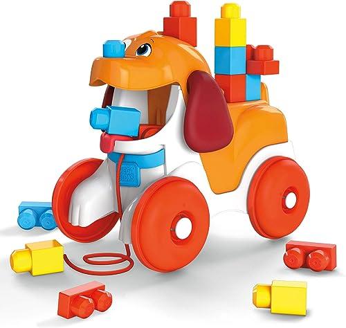 popular Mega Bloks Pull-Along Puppy Preschool Building Set online with Block outlet sale Pooping, Multi (GNW63) outlet sale