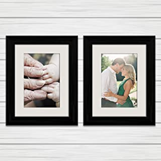 ArtzFolio Wall & Table Photo Frame D500 Black 6x8inch;Set of 2 PCS with Mount
