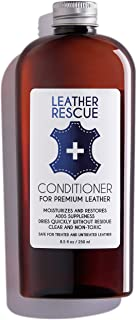 Leather Rescue Conditioner and Restorer | for Car Seats and Interiors, Jackets, Shoes, Bags, Purses, and Furniture | 8.5 oz