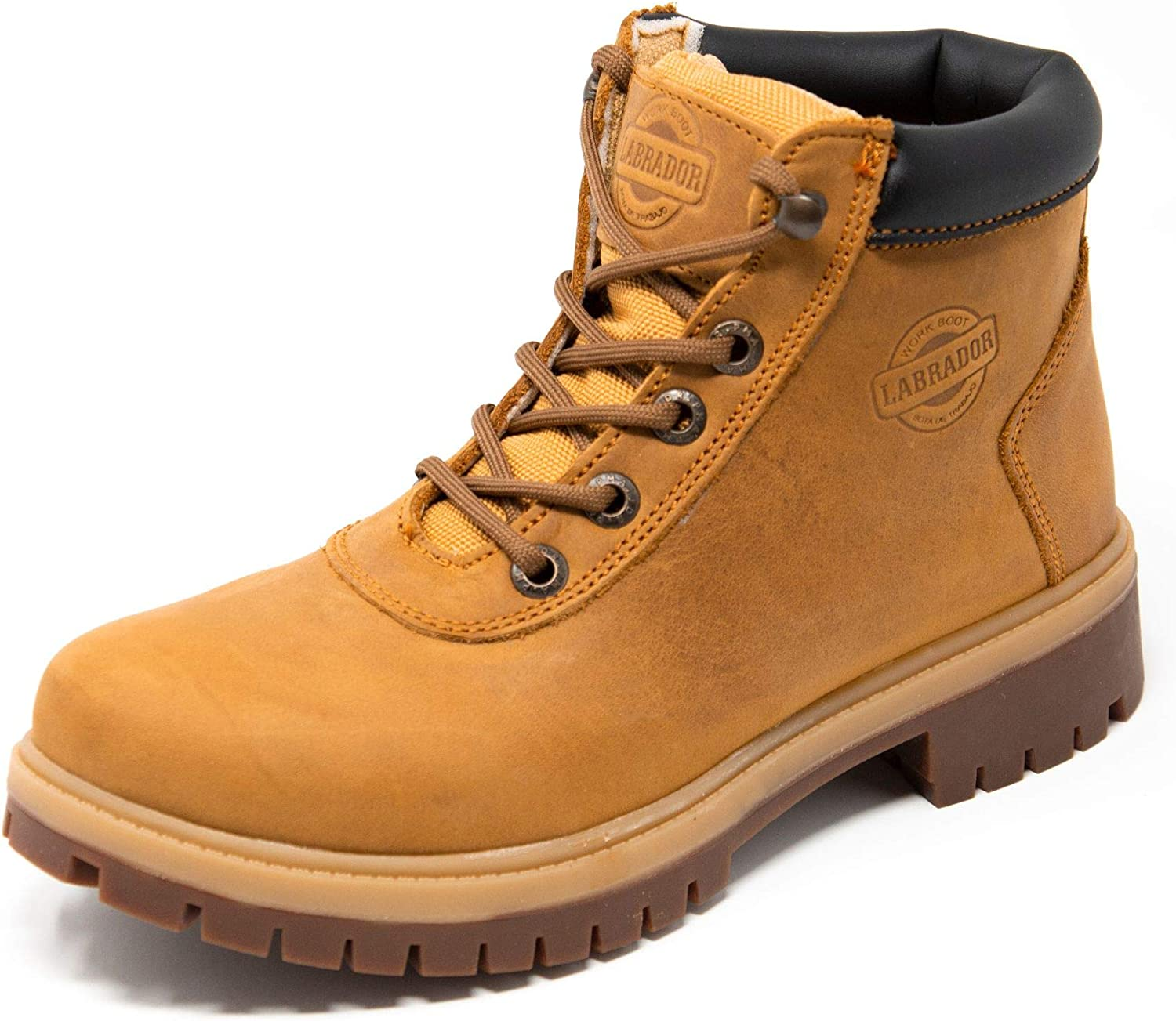 LABRADOR Women's Soft Toe Work Boot, for Construction, Leather, Rubber Outsole, Lightweight, 6 inch Shoe, BDT
