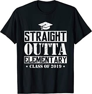 Straight Outta Elementary Funny Graduation Gift T-Shirt