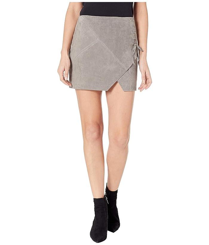Blank NYC Suede Mini Skirt (Soft Fog) Women