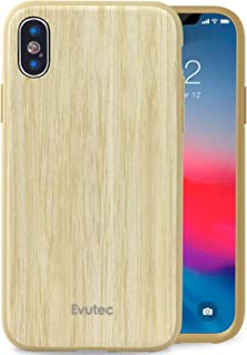 Evutec Case Compatible with iPhone X or XS, AER Series Real Wood Thin Slim Protective Phone Case- Bamboo (AFIX+ Vent Mount Included)