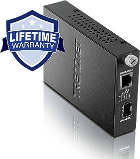 TRENDnet 100/1000Base-T to SFP Media Converter, Multi (SX) or Single-Mode (LX) Fiber Modules, 100Base-FX / 1000Base-SX/LX Mini-GBIC Slot, Lifetime Protection, TFC-1000MGA