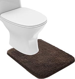 Suchtale Bathroom Contour Rug Non Slip Bath Mat Water Absorbent Soft Microfiber Shaggy Bathroom Mat Machine Washable Bath ...