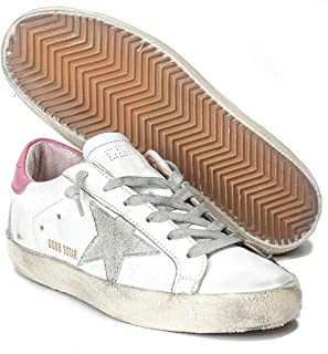 Women's Trainers Sneakers GGDB Leather Casual Shoes Low Top Slide Pink