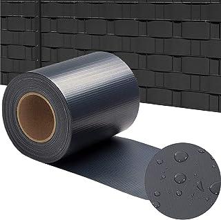 Aufun Brise-Vue Rouleau Pare-Vent pour clôture PVC 65m * 19cm Couverture de clôtures PVC Comprend des Clips - Anthracite