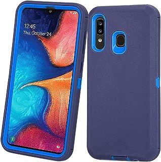 جراب Annymall Samsung Galaxy A20، جراب Galaxy A30، جراب Galaxy A50، متين [مع واقي شاشة مدمج] غطاء واقٍ واقٍ مضاد للصدمات لهاتف Samsung Galaxy A20/A30/A50, كحلي